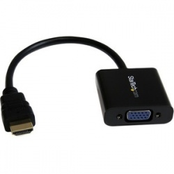 1080p 60Hz HDMI to VGA High Speed Display Adapter - Active HDMI to VGA (Male to Female) Video Converter for Laptop/PC/Monitor (HD2VGAE2) - Connect an HDMI equipped Laptop Ultrabook or Desktop Computer