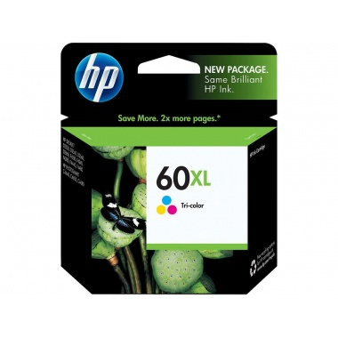 HP 60XL High Yield Ink Cartridge - Cyan/Magenta/Yellow