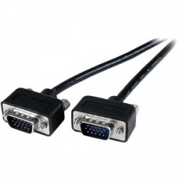 StarTech.com 15 ft Thin Coax High Res Monitor VGA Cable -Low Profile HD15 M/M - HD-15 Male - HD-15 Male - 15ft - Black